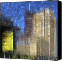 Berlin Canvas Prints - City-Art BERLIN Potsdamer Platz I Canvas Print by Melanie Viola