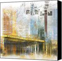 Berlin Canvas Prints - City-Art BERLIN Potsdamer Platz Canvas Print by Melanie Viola