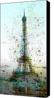 Attraction Digital Art Canvas Prints - City-Art PARIS Eiffel Tower II Canvas Print by Melanie Viola