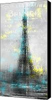 Attraction Digital Art Canvas Prints - City-Art PARIS Eiffel Tower LETTERS Canvas Print by Melanie Viola