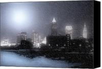 Lake Erie Canvas Prints - City Bathed In Winter Canvas Print by Kenneth Krolikowski