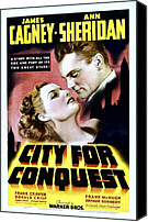 Postv Photo Canvas Prints - City For Conquest, Ann Sheridan, James Canvas Print by Everett