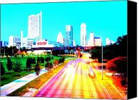 Austin Skyline Canvas Prints - City of Austin from the walk bridge Canvas Print by James Granberry