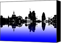 London Skyline Canvas Prints - City of Culture Canvas Print by Sharon Lisa Clarke