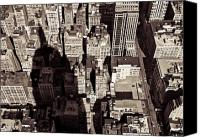 Big Apple Photo Canvas Prints - City Shadow Canvas Print by David Bowman