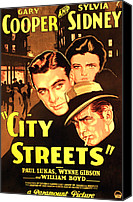 City Streets Photo Canvas Prints - City Streets, Gary Cooper, Sylvia Canvas Print by Everett
