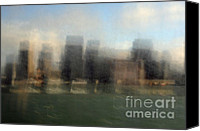 Impressionism Photo Canvas Prints - City View Through Window Canvas Print by Catherine Lau