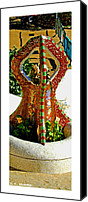 Parc Guell Canvas Prints - Citymarks Barcelona Canvas Print by Roberto Alamino
