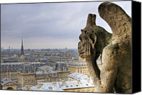 Notre Dame Canvas Prints - Cityscape From Notre Dame, Paris Canvas Print by Zens photo