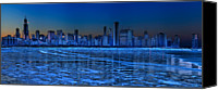 Lake Michigan Canvas Prints - Cityscape Canvas Print by Justin W. Kern