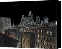 Photo-realism Canvas Prints - Cityscape Canvas Print by Richard Kilroy