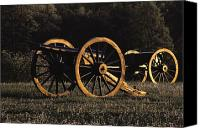 War Monuments And Shrines Canvas Prints - Civil War Cannon And Caisson, Manassas Canvas Print by Medford Taylor