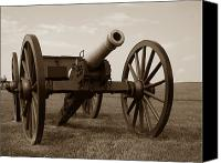 Cannon Canvas Prints - Civil War Cannon Canvas Print by Olivier Le Queinec