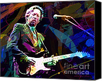 Guitar Player Canvas Prints - Clapton Live Canvas Print by David Lloyd Glover