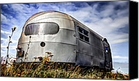 Campervan Canvas Prints - Classic Airstream caravan Canvas Print by Ian Hufton