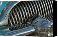 Del Rio Photo Canvas Prints - Classic American car bumper Canvas Print by Sami Sarkis