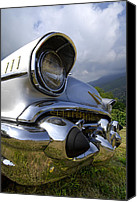 Grey Clouds Canvas Prints - Classic Chevrolet Canvas Print by Debra and Dave Vanderlaan