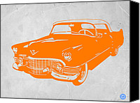 Modernism Canvas Prints - Classic Chevy Canvas Print by Irina  March