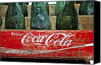 1950s Canvas Prints - Classic Coke Canvas Print by David Lee Thompson