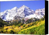Colorado Mountains Canvas Prints - Classic Maroon Bells Canvas Print by Marilyn Hunt