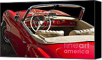 Antique Automobiles Photo Canvas Prints - Classic Mercedes Benz 190 SL 1960 Canvas Print by Heiko Koehrer-Wagner
