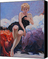 Semi Nude Canvas Prints - Classic Pose Canvas Print by Kevin Lawrence Leveque