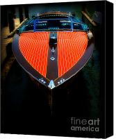 Wooden Boat Canvas Prints - Classic Wooden Boat Canvas Print by Perry Webster