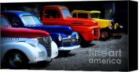 Red Car Canvas Prints - Classics Canvas Print by Perry Webster