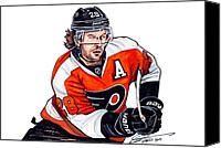 Flyers Canvas Prints - Claude Giroux Canvas Print by Dave Olsen