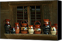 Wooden Bowls Canvas Prints - Clay jugs  Canvas Print by Emanuel Tanjala