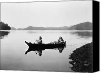Indian Canoe Canvas Prints - CLAYOQUOT CANOE, c1910 Canvas Print by Granger