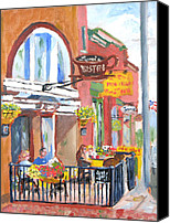 Clayton Painting Canvas Prints - Clayton NY-Lyric Bistro  Canvas Print by Robert P Hedden