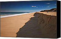 Cape Cod Scenery Canvas Prints - Clear Blue Sky Over Ocean Canvas Print by Dapixara Art