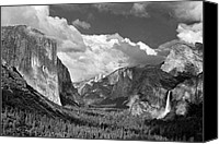 Inspiration Point Canvas Prints - Clearing Skies Yosemite Valley Canvas Print by Tom and Pat Cory