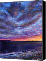 Seascape Pastels Canvas Prints - Clearwater Beach Sunset Canvas Print by Susan Jenkins