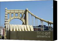 Pittsburgh Pirates Canvas Prints - Clemente Bridge Canvas Print by Chad Thompson