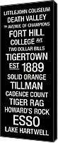 New York Signs Canvas Prints - Clemson College Town Wall Art Canvas Print by Replay Photos