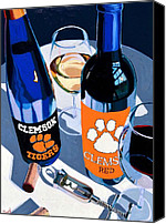Cakebread Canvas Prints - Clemson Red and White  Canvas Print by Christopher Mize