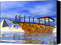 Barge Canvas Prints - Cleopatras Barge Canvas Print by Nicholas Burningham