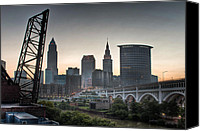 Veterans Memorial Canvas Prints - Cleveland Awakens Canvas Print by At Lands End Photography