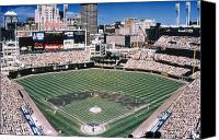 Cleveland Stadium Canvas Prints - Cleveland: Jacobs Field Canvas Print by Granger