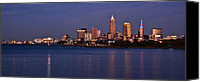 Lake Erie Canvas Prints - Cleveland Ohio Canvas Print by Dale Kincaid