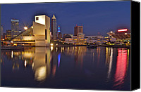 Cleveland Stadium Canvas Prints - Cleveland Ohio Lakefront Canvas Print by Robert Harmon