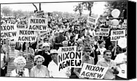 Agnew Canvas Prints - Cleveland Supporters Of The Nixon-agnew Canvas Print by Everett