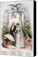 Puck Canvas Prints - Clevelands Wedding, 1886 Canvas Print by Granger