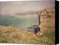 Impressionism Canvas Prints - Cliff at Varengeville Canvas Print by Claude Monet