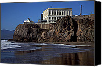 Frisco Canvas Prints - Cliff House San Francisco Canvas Print by Garry Gay