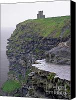 Watchtower Canvas Prints - Cliffs of Moher Ireland Canvas Print by Charles Harden