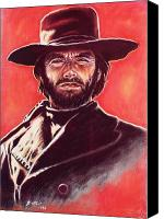 Clint Eastwood Canvas Prints - Clint Eastwood Canvas Print by Anastasis  Anastasi