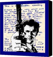 Celebrity Mixed Media Canvas Prints - Clint Eastwood as Dirty Harry Canvas Print by Jason Kasper